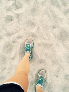 Alana Running on Beach